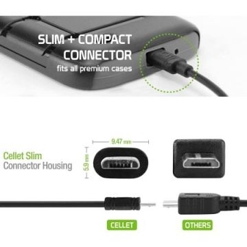 CyonGear 5-Watt/1-Amp Home Charger with 4' microUSB Cable, Black