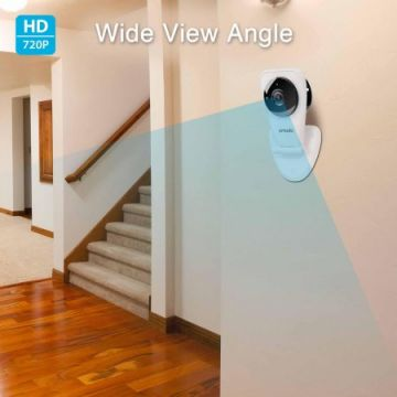 Zmodo EZCam 720p HD WiFi Wireless Security Surveillance IP Camera System with Night Vision and Two Way Audio - Cloud Available