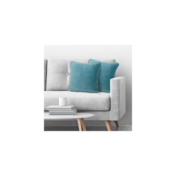Better Homes and Gardens Quilted Velvet Decorative Throw Pillow, Teal, 2 pack